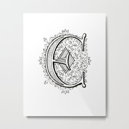 Monogram E Metal Print