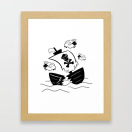 Holy Flying Sheep In A Shipwreck! (For Light Products) Framed Art Print