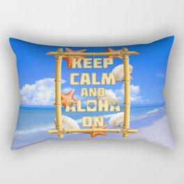 Keep Calm And Aloha On Rectangular Pillow