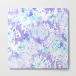 Blue and Purple Tie-Dye Metal Print
