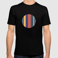 Color Band 70's - B - Stripe MEDIUM Black Mens Fitted Tee
