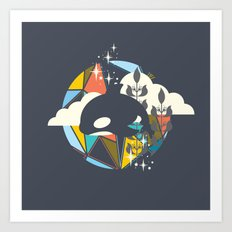 Orca Magic Art Print