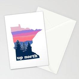 Up North Minnesota Blush Sunset Stationery Cards