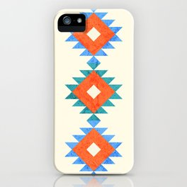 geometry navajo pattern no3 iPhone Case