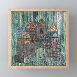 Underwater castle in green Framed Mini Art Print
