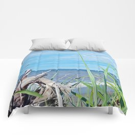 Through Grass and Driftwood Comforters