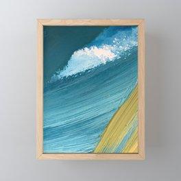 Paradise: a vibrant, minimal, abstract mixed media piece Framed Mini Art Print