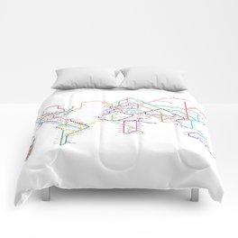 World Metro Subway Map Comforters
