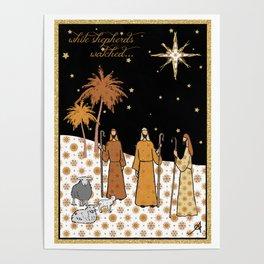 Christmas Nativity - Shepherds Amanya Design Poster