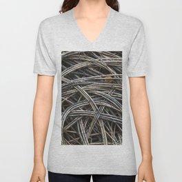 Dried branch background Unisex V-Neck
