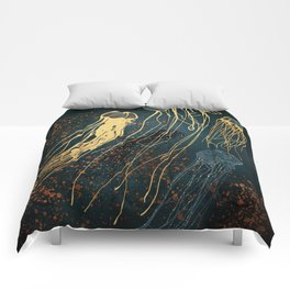 Metallic Jellyfish Comforters