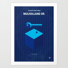 No323 My MULHOLLAND DRIVE minimal movie poster Art Print