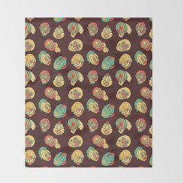 Luchadores Throw Blanket