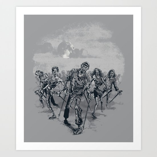 the NORDIC walking dead Art Print