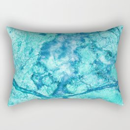 Turquoise Marble Rectangular Pillow