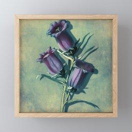 Floral Vintage Inspired Art With Purple Flowers Framed Mini Art Print