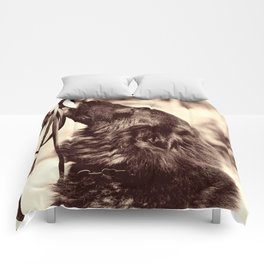The love of a dog to man Comforters