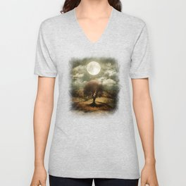 Once upon a time... The lone tree. Unisex V-Neck