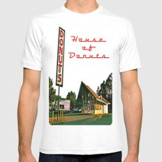 Little House of Donuts Mens Fitted Tee White MEDIUM