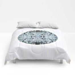 Symmetrical Iceberg Planet Comforters