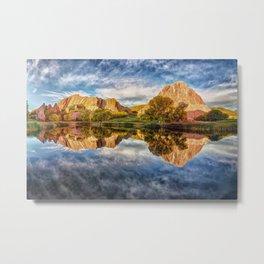 Colorful Colorado Red Rocks Reflection  Metal Print