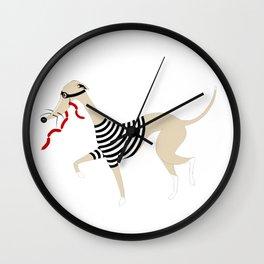 Whippet Thief Wall Clock