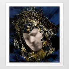 MASK OF LOVE (read the description to understand the trick) Art Print