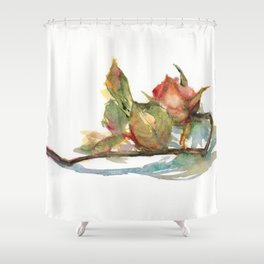 DAILY ROSE PAINTING DAY1412 20190620THU Shower Curtain