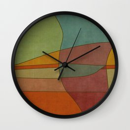 """""""Colorful Abstract Landscape"""" Wall Clock"""