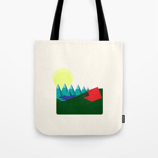 Camping is fun! Tote Bag