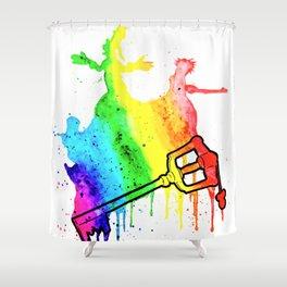 Rainbow Keyblade Shower Curtain