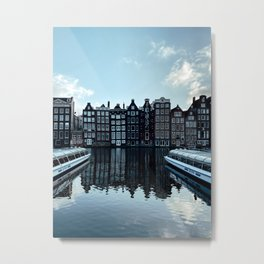 Amsterdam Canal Houses   Cityscape travel photography wall art   Buildings Architecture Art Print Metal Print
