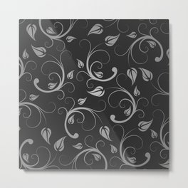 Floral Abstract Vine Art Print Design Metal Print