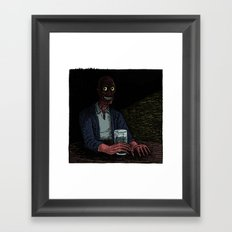 A stranger in the corner Framed Art Print