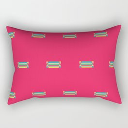 Sweets Print. Pink and Sweety Rectangular Pillow