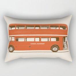 Red London Bus Rectangular Pillow