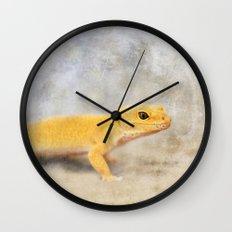 Portrait of a Leopard Gecko Wall Clock