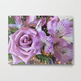 Lavender Pretty PO Metal Print