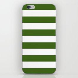 Simply Stripes in Jungle Green iPhone Skin