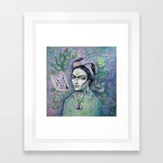 Magical Girl Frida Framed Art Print