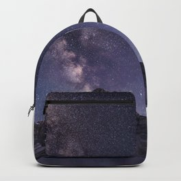 Milky way above mountain Backpack