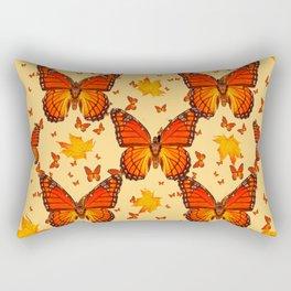 AUTUMN LEAVES & MONARCH BUTTERFLIES ART Rectangular Pillow