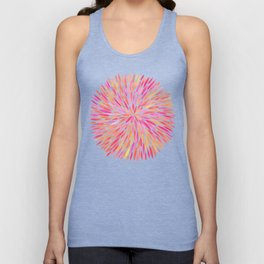 Watercolor Burst – Pink Ombré Unisex Tank Top