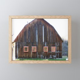 Rustic Old Country Barn Framed Mini Art Print