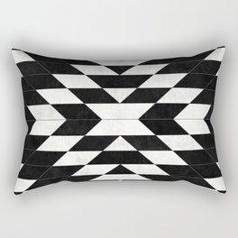Urban Tribal Pattern No.14 - Aztec - Black Concrete Rectangular Pillow