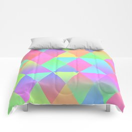 Colorful Geometric Pattern Prism Holographic Foil Triangle Texture Comforters