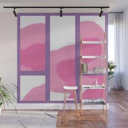 Expressive Windows of Purple Wall Mural