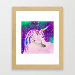Celestial Unicorn Framed Art Print