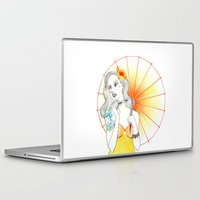 pin up Laptop & iPad Skins featuring Pin-Up  by Susana Carvalhinhos