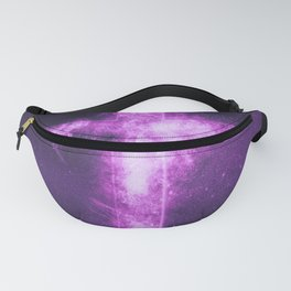 Christian cross symbol. Abstract night sky background. Fanny Pack